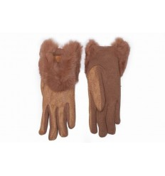 Women's cotton gloves - rabbit