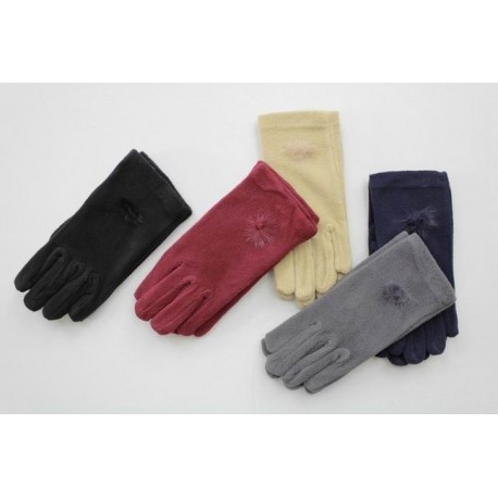 Women's fleece gloves - one size