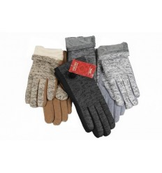 Women's knitted gloves thick