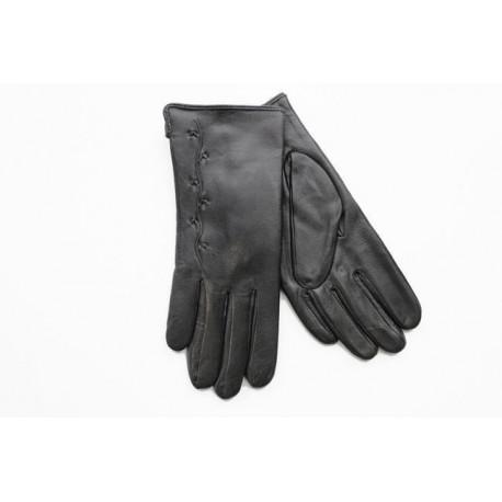 Rękawiczki damskie skórzane grube czarne