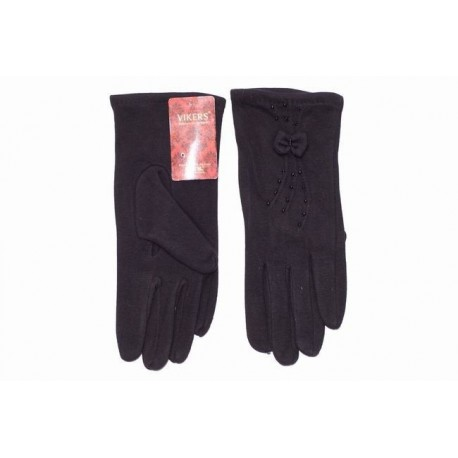 Women's cotton gloves - black