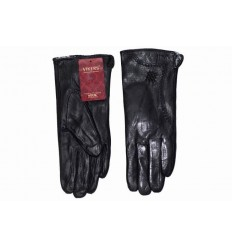 Women gloves, leather - black Piwi