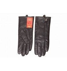 Women's leather gloves eco-black