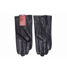 Men's leather gloves thick - black