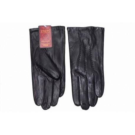 Rękawiczki męskie skórzane grube czarne