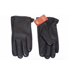 Men's leather gloves eco - black