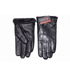 Men's leather gloves - a long bear