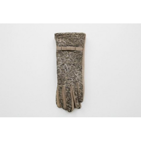 Women's material gloves F32