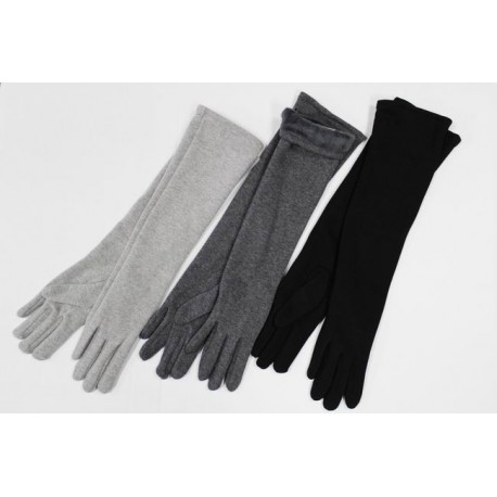 Women's cotton gloves long F25